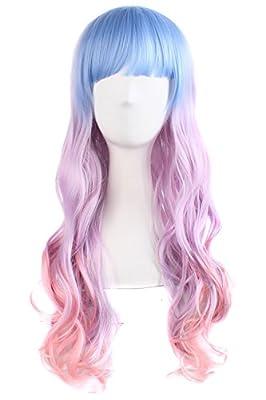"""MapofBeauty 24"""" Wavy Multi-Color Lolita Cosplay Wig Party Wig"""