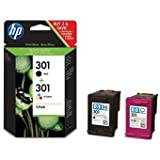 Hewlett-Packard (HP) Original 301 Black & Colour Ink Cartridge - Standard capacity
