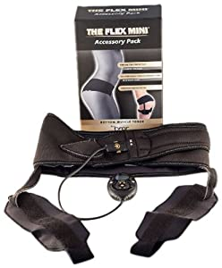 The Flex Belt Women's Flex Mini Thigh and Butt Toning Belt, Black