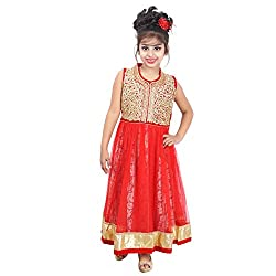 ahhaaaa's Red Beautiful Dress/Gown/Frock for Girls (2-3 Years)