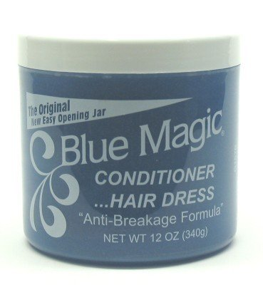 Blue Magic Cnd Hair Dress 12 oz. Jar (3-Pack) with Free Nail File