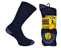 Six Pairs Mens BIG FOOT ULTIMATE WORK Socks 11 - 14