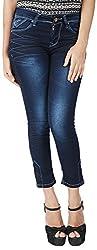 INTEGRITI Women's Slim Fit Jeans (FLY-LANK-106 EZYFT CRBNBL_28, Blue, 28)