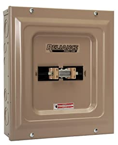 Reliance Controls TCA1006D Panel/Link 100-Amp Utility/60-Amp Generator Transfer Switch For Up To 15000-Watt Generators