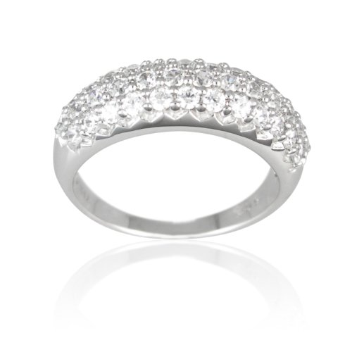 Sterling Silver Cubic Zirconia Ladies Band Ring, (1.73 cttw), Size 7