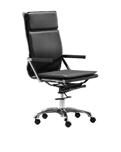 Zuo Lider Plus High-Back Office Chair, Black As You See
