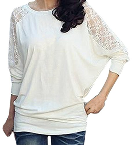 AM CLOTHES Womens Loose Batwing Long Sleeve Bottoming