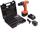 Black & Decker CD121K50 12-Volt Cordless Drill/Driver with Keyless Chuck and 50 Accessories Kit