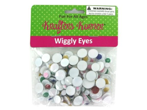 Wiggly eyes, assorted colors and shapes - Pack of 48