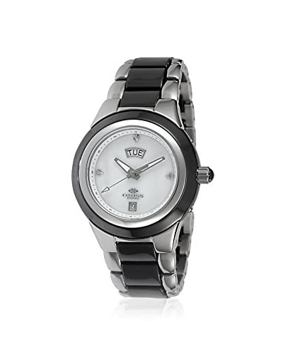 Oniss Women's ON435-L-BK-WT Black/White Stainless Steel and High Tech Ceramic Watch
