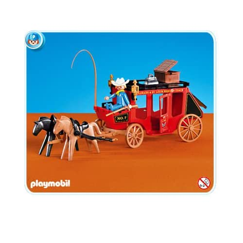 Amazon.com: Playmobil #7428 WESTERN STAGE COACH Cowboys & Indians