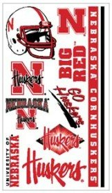 University of Nebraska Lincoln NU Cornhuskers -Temporary Face Tattoos - Multi Logo Sheet - 1