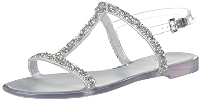 Stuart Weitzman Women's Teezer Jelly Sandal,Clear Jelly,5 M US