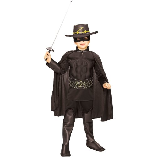 Muscle Chest Zorro Costume - Large