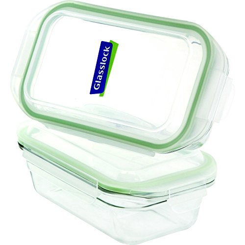 Glasslock 4-Piece Oven Safe Bakeware Rectangle Set, 9 by 5-Inch