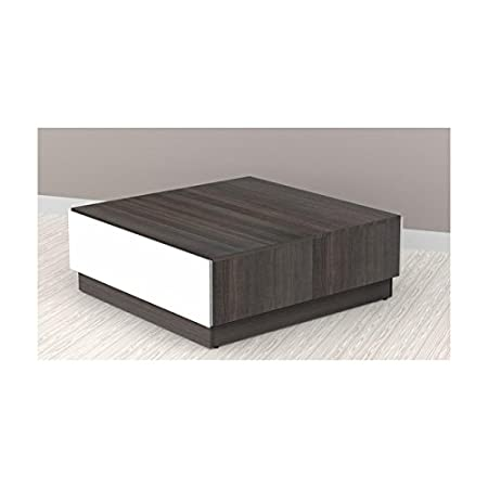 Contemporary Coffee Table with Metal Glides