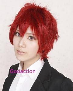 Red sky Naruto Gaara reverse scorpion ten wood Short red straight Wig