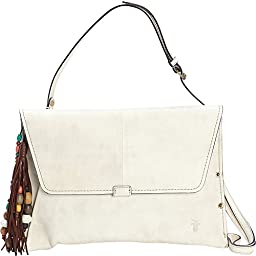 FRYE Hillary Envelope Clutch, Off White, One Size