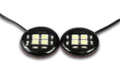 Streetglow (Discwh) White Led Disc - Pair