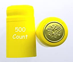 Yellow PVC Shrink Capsules-500 Count