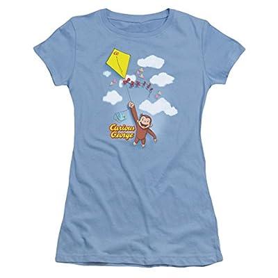 Curious George Flight Ladies Junior Fit T-Shirt