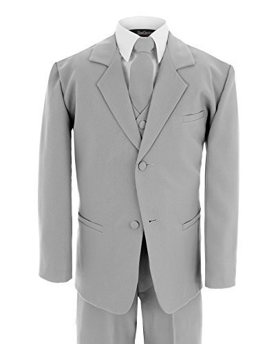 Gino Giovanni Formal Suit Set Silver for Boys From Baby to Teen