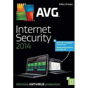 AVG INTERNET SECURITY+PCTUNEUP 2014, 3 User 2 Year