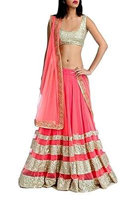 SiyaRam Pink Party Wear Net Lehenga Choli