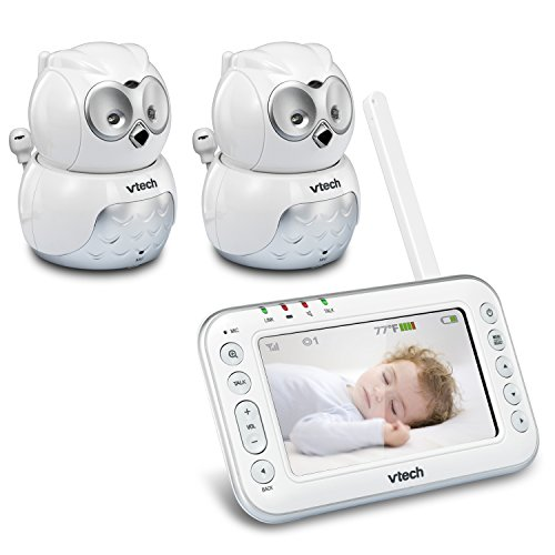 vtech-safesound-vm344-2-expandable-digital-video-baby-monitor-with-pan-tilt-2-cameras-and-automatic-