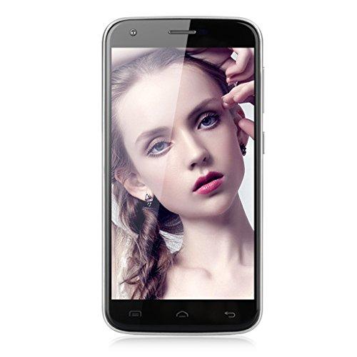 """5.0"""" HD DOOGEE Y100 PRO 4G Smartphone Débloqué Android 5.1 MT6735P 64Bit IPS 1.0Ghz Quad Core 2GB +16GB OTG Hotknot GPS WIFI Bleutooth (avec Étui de protection)- pour Orange, SFR, Bouygues, Virgin, Free ISYS, Lebara, Numericable etc - Argenté"""