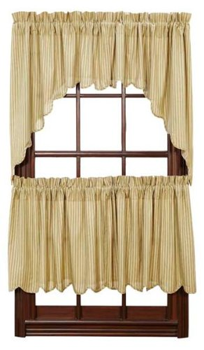 """Heartland Lined Scalloped-Edge Tiers (Set Of 2 , 24"""" X 36"""" Each) front-997608"""