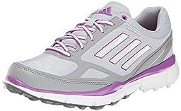 adidas Women\'s W Adizero Sport III Golf Shoe, Clear Onix/Running White/Flash Pink, 6.5 M US