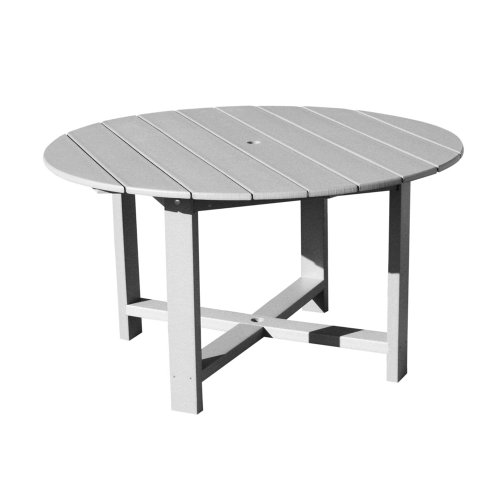 Recycled Plastic 51 Inch Outdoor Round Dining Table White The Cheap