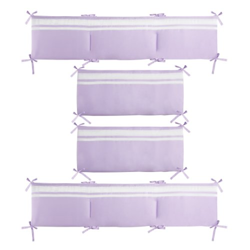 CoCaLo Mix & Match Grosgrain Ribbon Reversible Bumper, Violet - 1