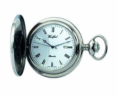Woodford Pocket Watch 1206 Chrome Plated Quartz Full-Hunter