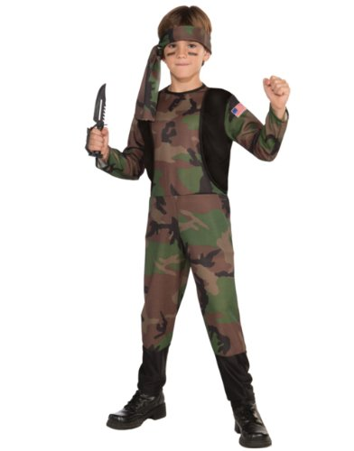 Camo Soldier Costume, Child Large