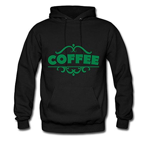 Bingo Men'S Coffee Green Letters Cotton Hoodie Sweatshirt Black Xxl