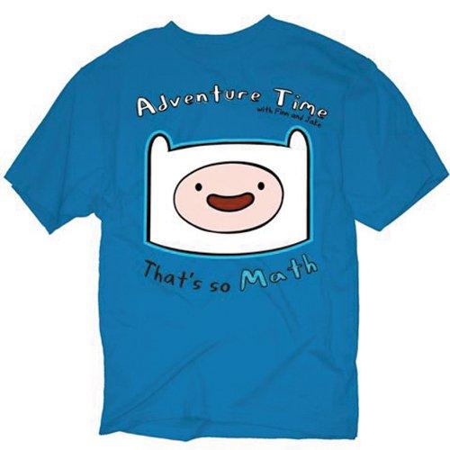 Adventure Time Finn So Math Blue T-Shirt blu xl