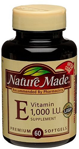 Nature Made Vitamin E 1000IU, 60 Softgels (Pack of 3)