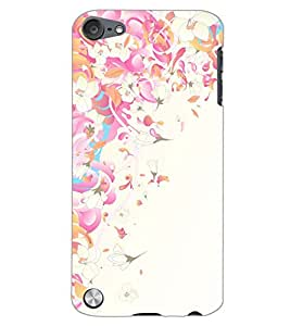 PrintDhaba FLOWER PATTERN D-6536 Back Case Cover for APPLE IPOD TOUCH 5 (Multi-Coloured)