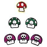 Nintendo キノコ ミニワッペン 6枚セット [並行輸入品]