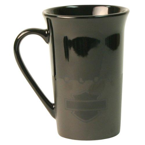 Harley Davidson Black Tonal Logo 11 Ounce Ceramic Coffee