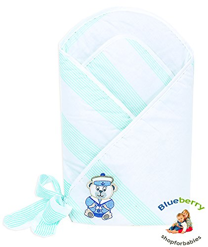 Blueberry Shop Premium Collection Swaddle Wrap Blanket Gift Present White Seaman