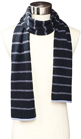 Scott James Men's Harris Stripe Scarf, Navy, One Size