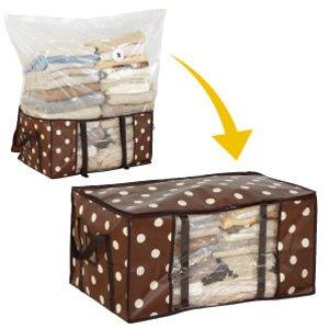 圧縮袋付収納ケース (衣類用, 2セット)