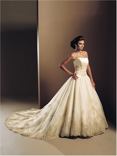 Fantasy wedding Gown, Famous designer and low price