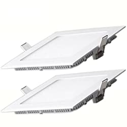 Bene LED 18w Square Panel, Color of LED- Warm White(Yellow) (Pack of 2 Pcs)