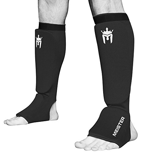 meister-mma-elastic-cloth-shin-instep-padded-guards-pair-black-small-medium