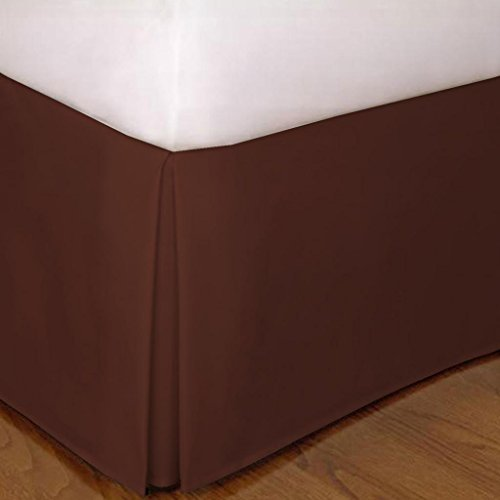 "650 Tc Egyptian Cotton 1X Bed Skirt For Rv'S, Campers, Bunk & Travel Trailers 30"" Drop Rv Bunk (38X80"") Chocolate Solid front-741933"