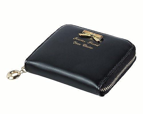 12. Leegoal Fashion Women Zipper Pu Leather Wallet Purse Card Holders Mini Handbag